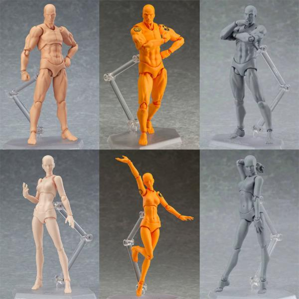 Anime Archetype He She Ferrite Figma Movable Body PVC Action Figure Model Toys Doll for Collectible