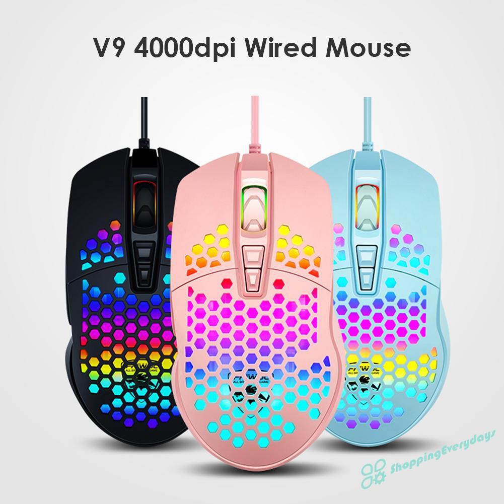 Chuột Gaming Sv V9 Quang Học Có Dây 4000dpi