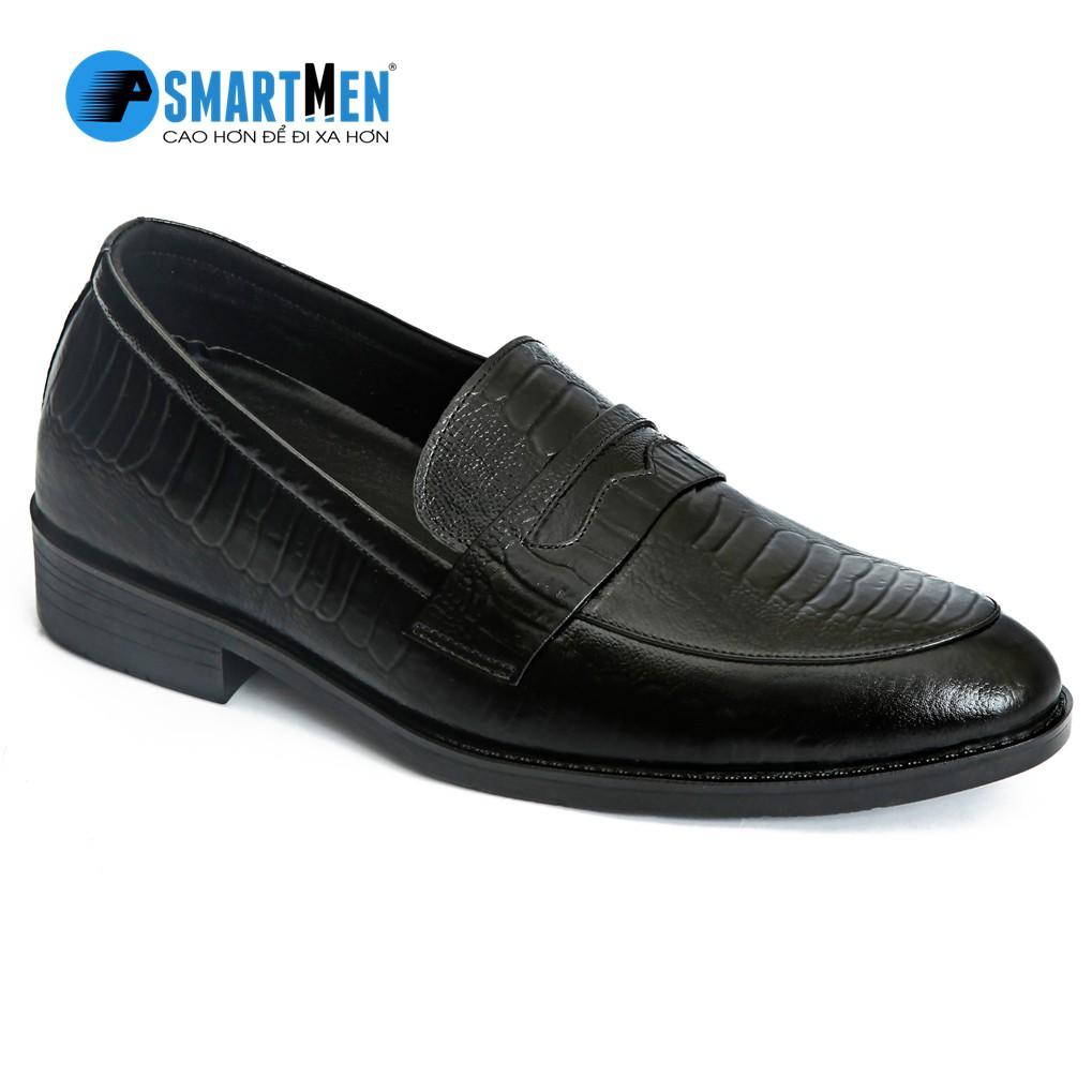 Giày lười da bò thật tăng chiều cao SMARTMEN GL-21