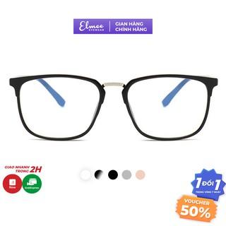 Kính cận gọng nhựa dẻo mắt vuông viền mảnh Elmee E2166 nhiều màu phụ kiện thời trang nam nữ thumbnail