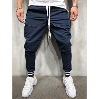 Men's personality wind stitching cotton casual beam pants A623
