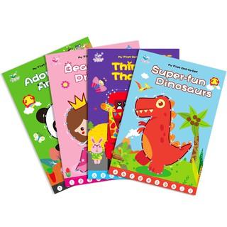 Tập tô màu và hướng dẫn vẽ hình công chúa, con vật, xe… cho bé