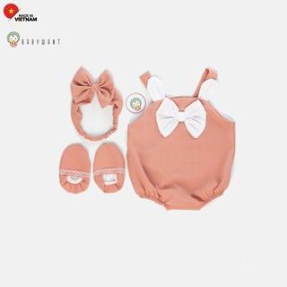 Sét đồ Jumpsuit cho bé gái, trẻ sơ sinh màu hồng BABYWANT thumbnail