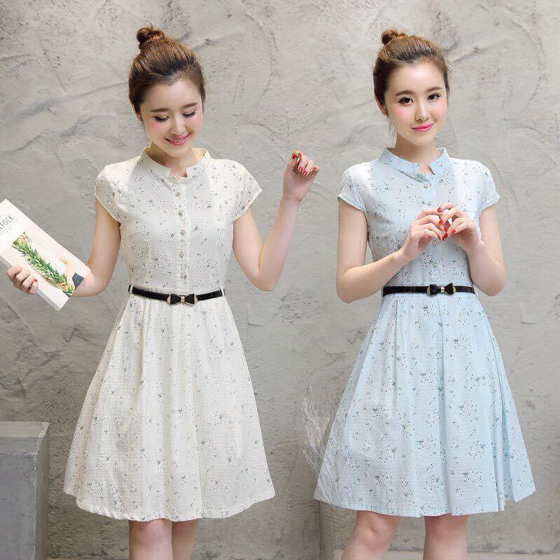 Váy hoa cổ trụ cực xinh