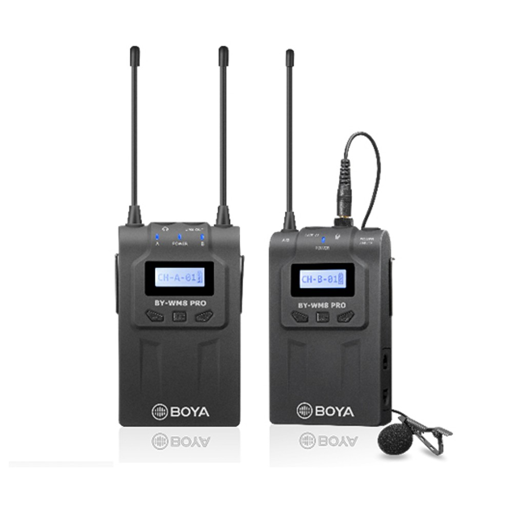 Micro thu âm cài áo không dây BOYA Wireless Microphone System BY-WM8 Pro-K1 dùng cho máy ảnh, máy quay (FB101)