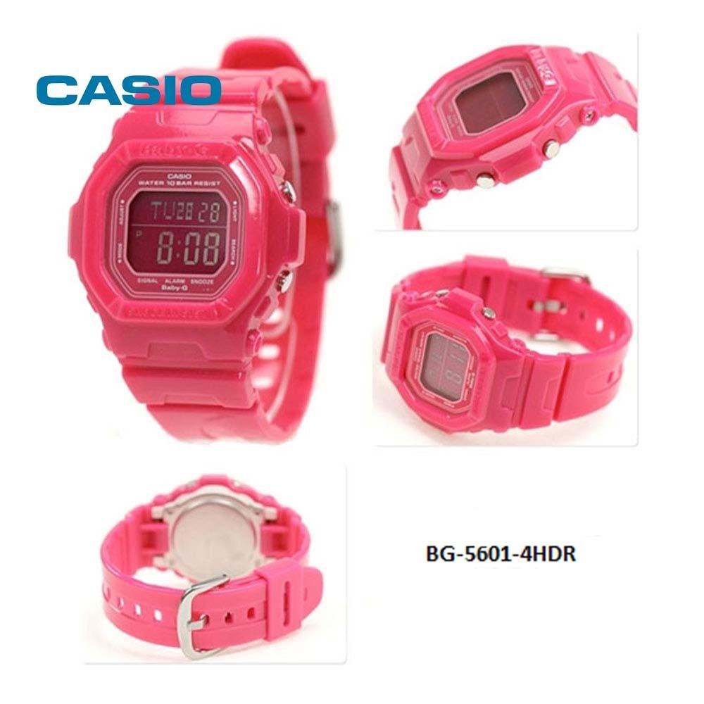 Đồng Hồ Nữ Casio Baby G BG-5601-4HDR Dây Nhựa Màu Hồng Dễ Thương