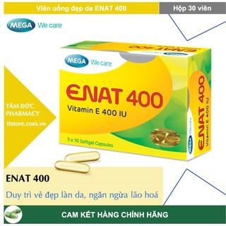 ENAT 400 – Mega We Care [Hộp 30 viên] – Viên uống Vitamin E 400UI giúp da căng mịn, chống oxy hoá