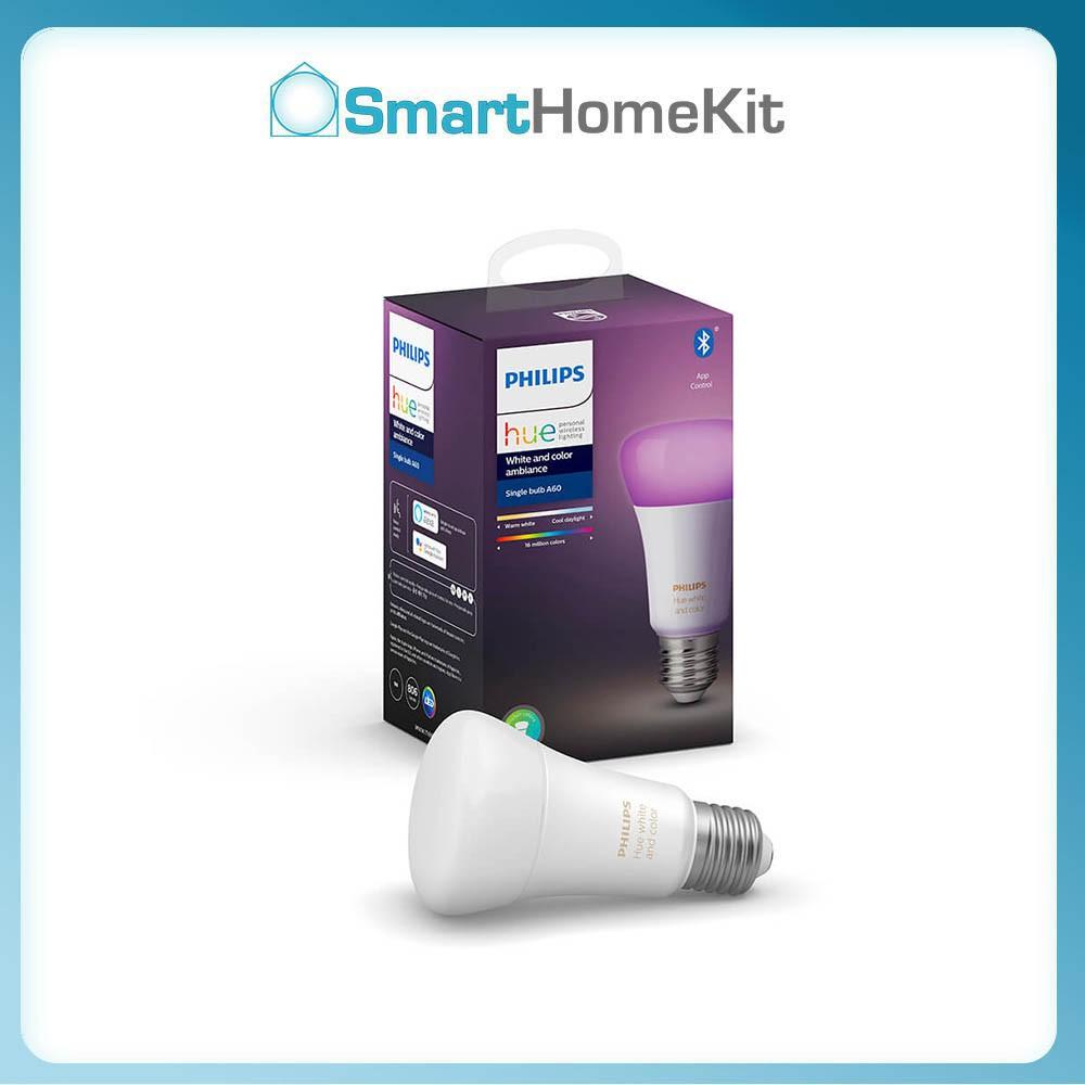 Đèn thông minh Philips Hue White and Color Ambiance E27-đèn 16 triệu màu, BH 2 Năm