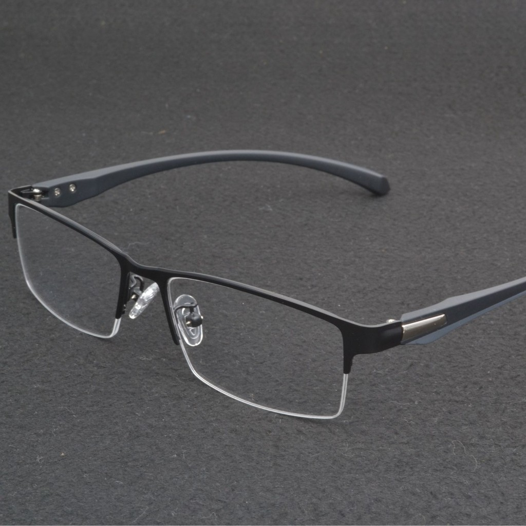 Gọng kính cận nam mắt kính 0 độ bản nhỏ gọng vuông phong cách văn phòng công sở hợp thời...