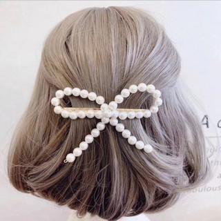 Kẹp tóc nơ ngọc trai phong cách tiểu thư vintage dịu dàng sang trọng - MELY 916 thumbnail
