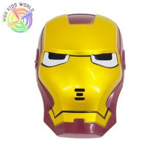 Mặt nạ người sắt IRON MAN có đèn, đồ chơi trẻ em lứa tuổi 3+ mặt nạ hóa trang, halloween, trung thu, trang phục cosplay