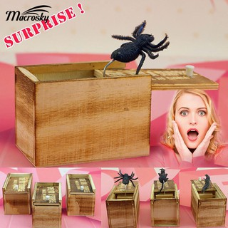 Wooden Prank Toypidercared Box Home Office Practical y Joke Gag