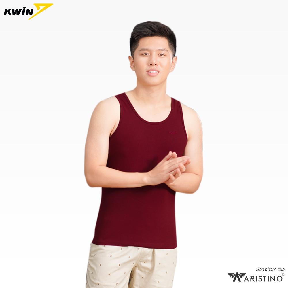 Áo ba lỗ nam KWIN chính hãng 2 màu trẻ trung, dáng thể thao ôm gọn, chất liệu mềm mại thoáng mát - Mã KTT1702