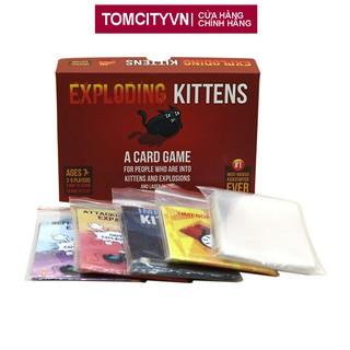 Combo Bài Mèo Nổ Exploding Kittens + 4 Bản Mèo Mở Rộng + Bọc Bài thumbnail