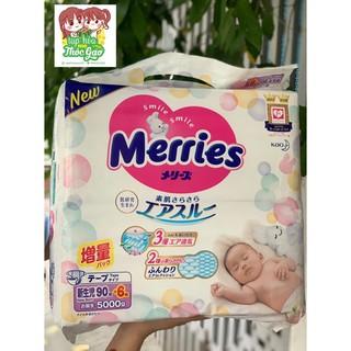COMBO 03 BỊCH + Tã Bỉm Dán Merries Cộng Miếng NB96 - S88 - M68 - L58 - M64-L50-XL44 Nhật Bản thumbnail