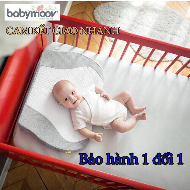 [HÀNG ĐẸP] Gối chống trào ngược Babymoov – Ruột cao su đúc nguyên tấm
