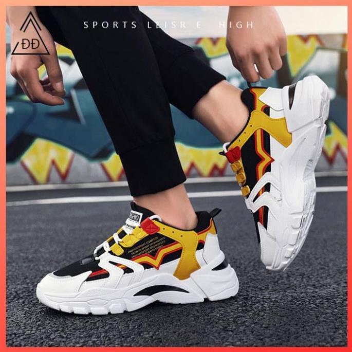 Rẻ Nhất TT Giày sneaker đế cao màu vàng [FREESHIP] D785 shop Địch Địch chuyên giày nam đẹp