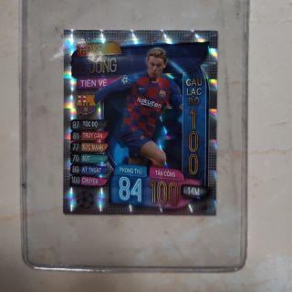 Thẻ siêu sao FRENKIE DE JONG CLB100 2020