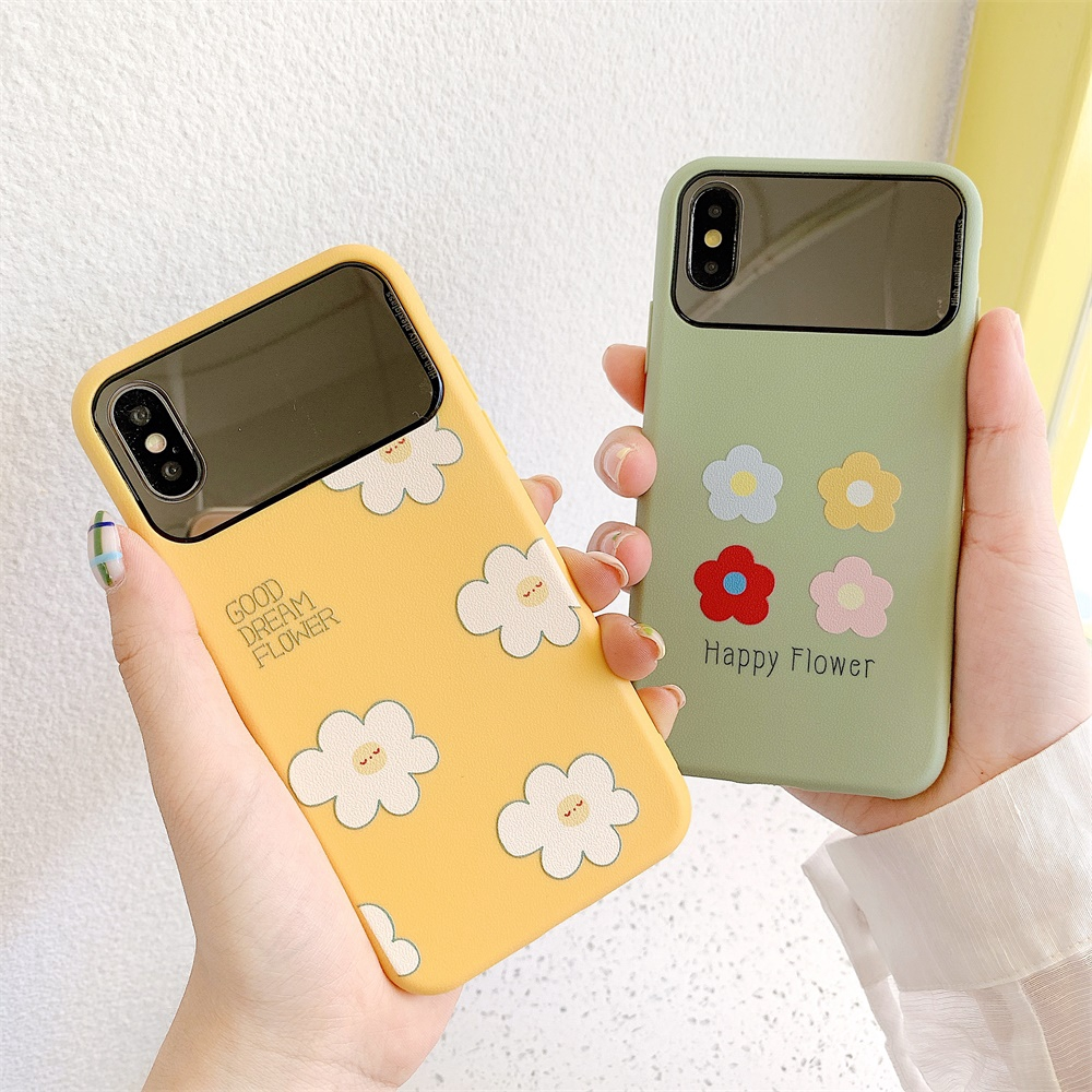 For Apple Mirror Soft Covers Gree iPhone 7/8 6/6s Plus X XR XS MAX Case TPU Phone Shell
