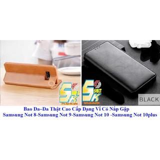 Bao Da – Da Thật Cao Cấp Dạng Ví Có Nắp Gập Samsung Not 8 – Samsung Not 9 – Samsung Not 10 – Samsung Not 10 plus.