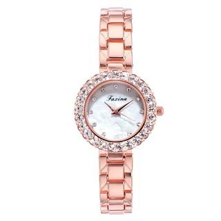 Đồng hồ thời trang nữ Faxina đính cườm kèm lắc tay pha lê xinh xắn Th449