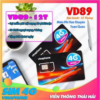 Sim 4G Vinaphone VD89 Miễn Phí 12 Tháng Không Cần Nạp Tiền – Tặng 720Gb (Tặng 2Gb/Ngày) – Gọi Thả Ga Data Miễn Phí