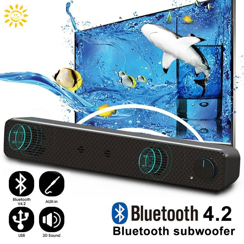 SMI Universal Soundbar Bluetooth Speaker Double Trumpet Outdoor Wireless Bluetooth Speaker