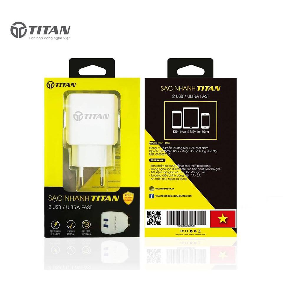 Củ Sạc Nhanh Titan 2 Cổng USB - 10033469 , 573095200 , 322_573095200 , 250000 , Cu-Sac-Nhanh-Titan-2-Cong-USB-322_573095200 , shopee.vn , Củ Sạc Nhanh Titan 2 Cổng USB