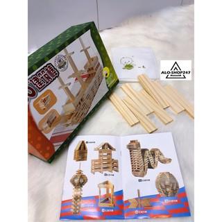 Bộ lắp ráp sáng tạo nhiều mô hình bằng gỗ 1110