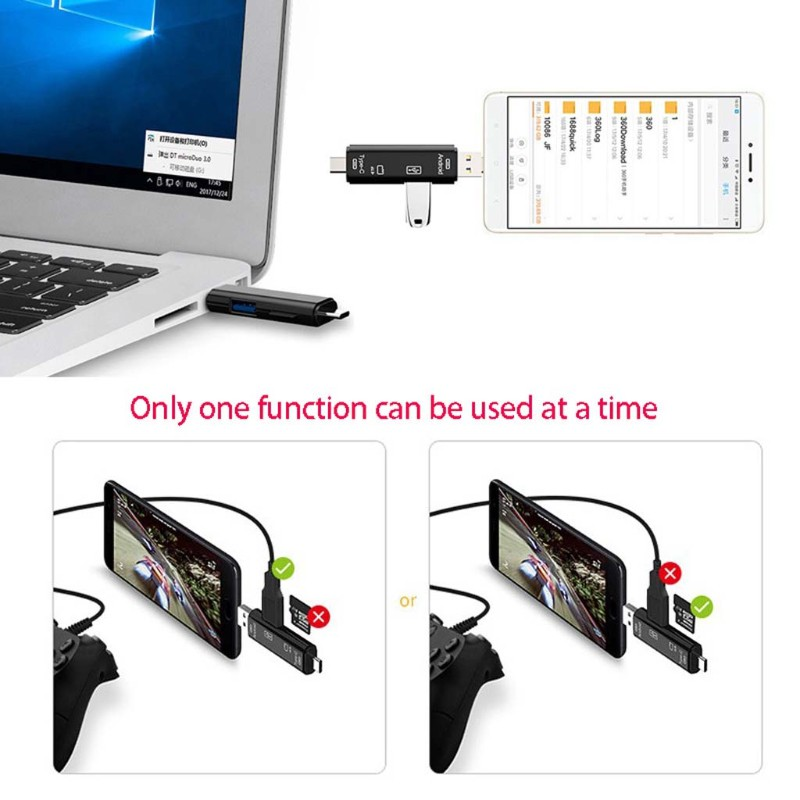 Đầu Đọc Thẻ Nhớ Micro Usb Loại C Cho Samsung Xiaomi Macbook