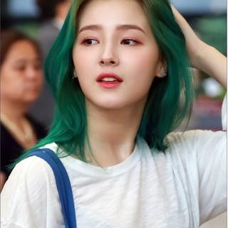 thuốc nhuộm tóc màu xanh lá +tặng kèm oxy trợ dưỡng thumbnail
