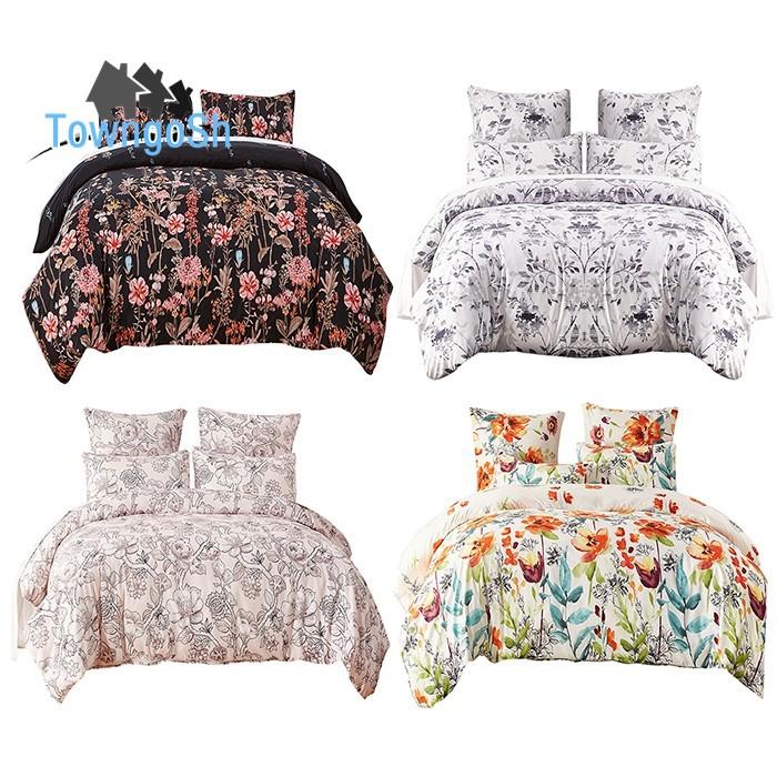 Bộ áo chăn ga gối họa tiết thời trang cho phòng ngủ
