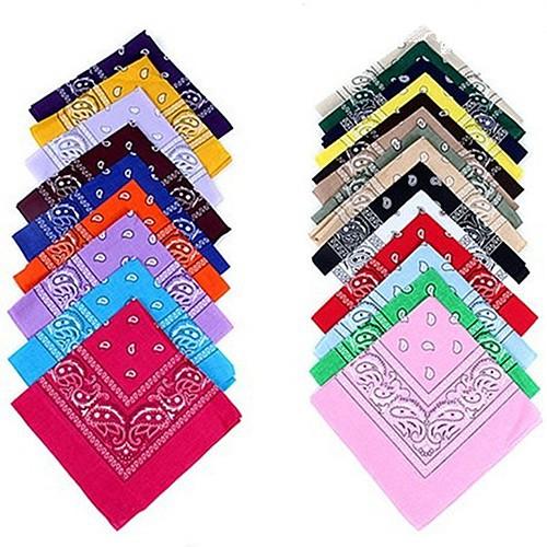 Khăn vải cotton quấn đầu có in họa tiết nhiều màu sắc khác nhau đầy cá tính dành cho nam nữ