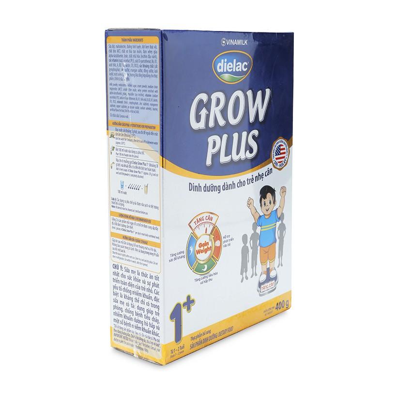 Sữa bột Dielac Grow Plus xanh 1+ Vinamilk hộp 400g (Dành cho trẻ nhẹ cân)