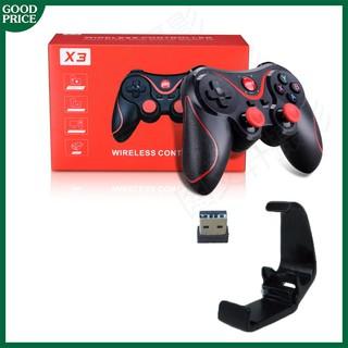 Tay cầm chơi game bluetooth X3/ C8 – đế kẹp điện thoại và usb chơi trên PC