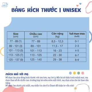 Hình ảnh Bộ Quần Áo Dài Tay Cho Bé Trai Và Bé Gái (1-9 Tuổi) K's Closet E044TEF TM-8