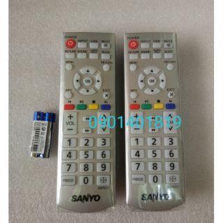 Điều khiển Tivi LCD Sanyo màu bạc.( Hàng sịn xò )