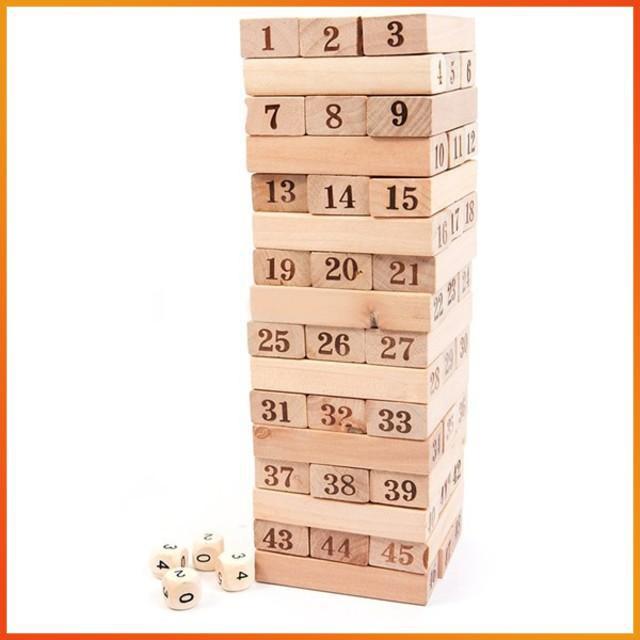 [GIÁ CỰC SỐC] – Bộ đồ chơi rút gỗ 48 thanh to
