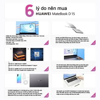 Hình ảnh [Mã ELHWSEP giảm 5% đơn 3TR] Máy Tính Xách Tay Huawei Matebook D15 (8GB/256GB)   Màn Hình Fullview-2