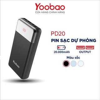 Sạc dự phòng nhanh Yoobao 20000mAh PD20 - Hàng chính hãng