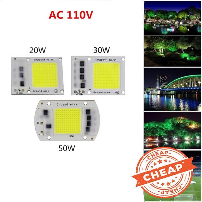 Đèn LED chip COB 15W/20W/30W/50W thiết kế phát quang ngoài trời 110V