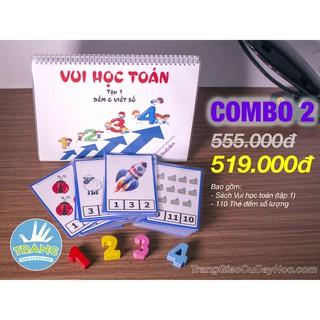 Combo 2 (Toán tập 1 + thẻ đếm) – TrangGiaoCuDayHoc