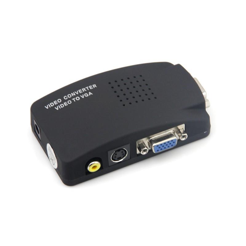 Bộ chuyển đổi AV video sang VGA (đen)