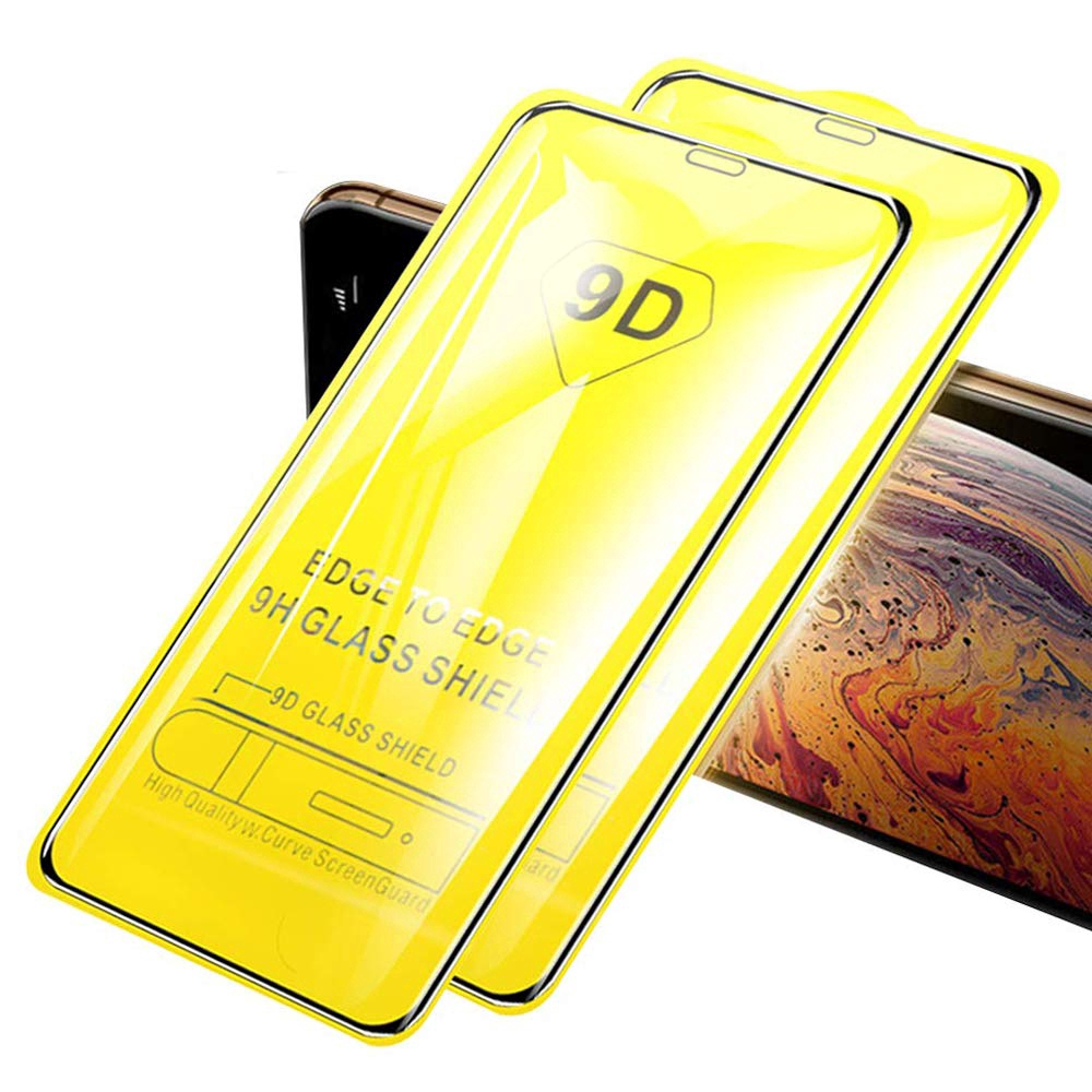 Kính cường lực 9D che phủ toàn màn cho iPhone 12 Mini 11 Pro X XS Max Xr 7 8 6 6s Plus SE2 SE 2020