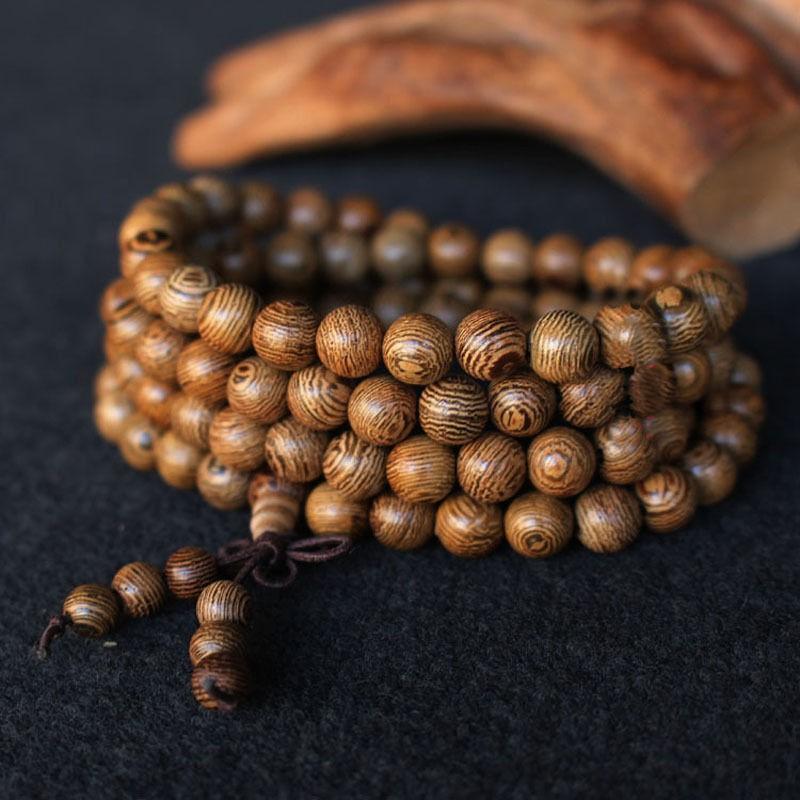 Vòng chuỗi 108 hạt kiểu dáng Phật giáo xinh xắn