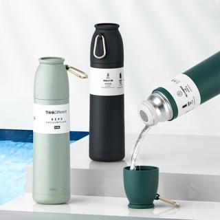 Bình giữ nhiệt ThinkDiffent dung tích 500ml dạng phích kèm nắp cốc uống tiện lợi giữ nhiệt đến 18h bình inox giữ nhiệt