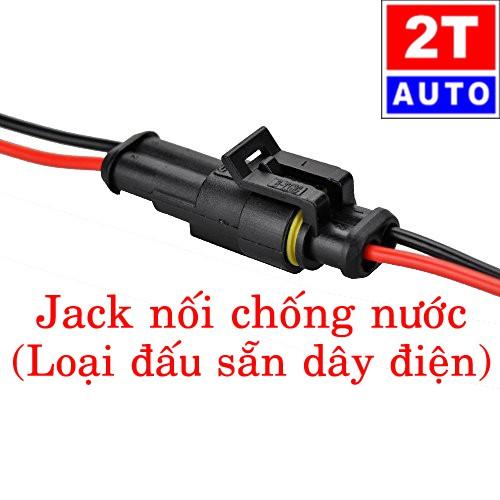 [LOẠI ĐẤU SẴN DÂY] Đầu cút jack giắc nối dây điện 2 chân chống nước dùng cho xe máy xe hơi ô tô:   SKU:179-1