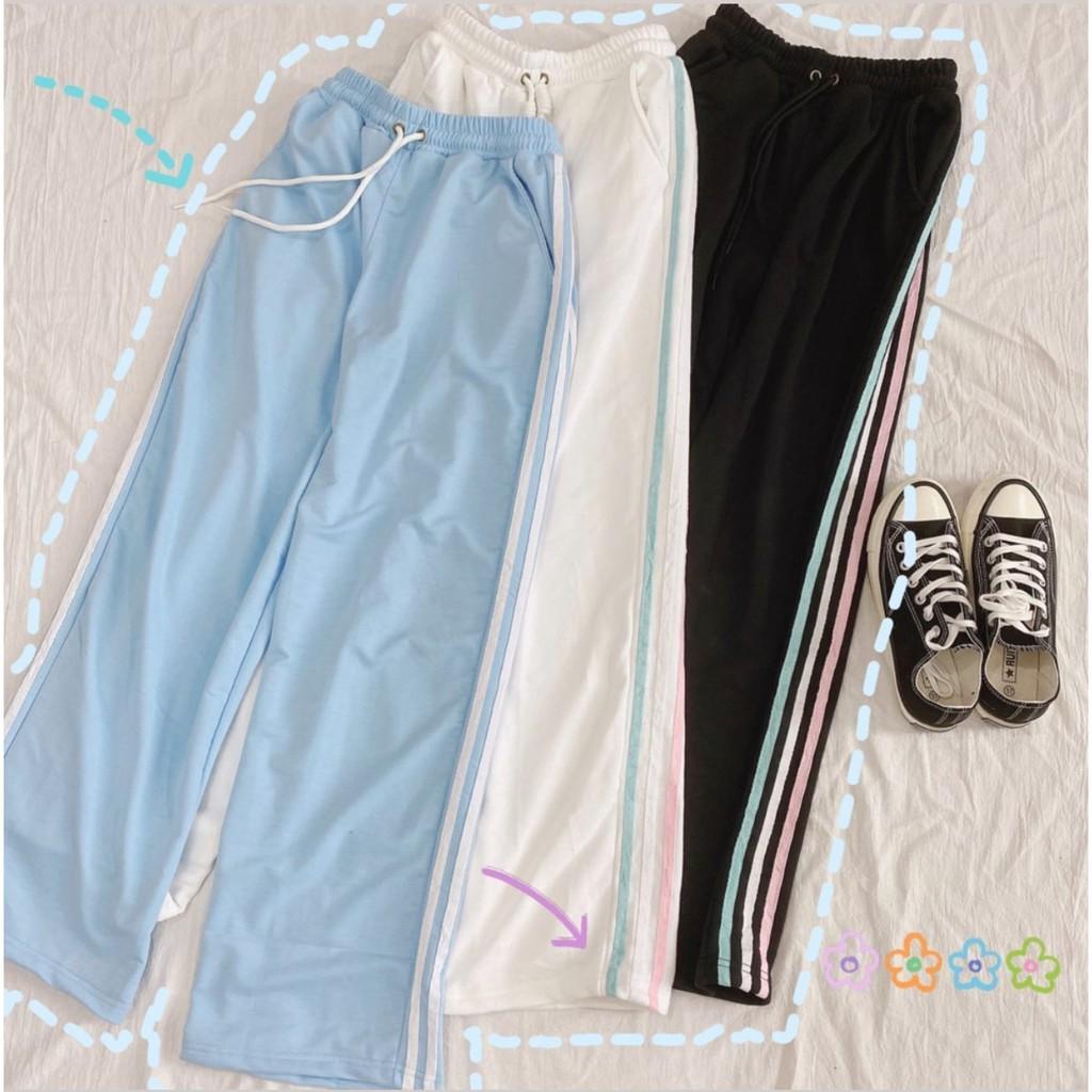 Quần Dài Phối Sọc 3 Màu Line Color - Rainbow Pants Unisex (3 Màu)