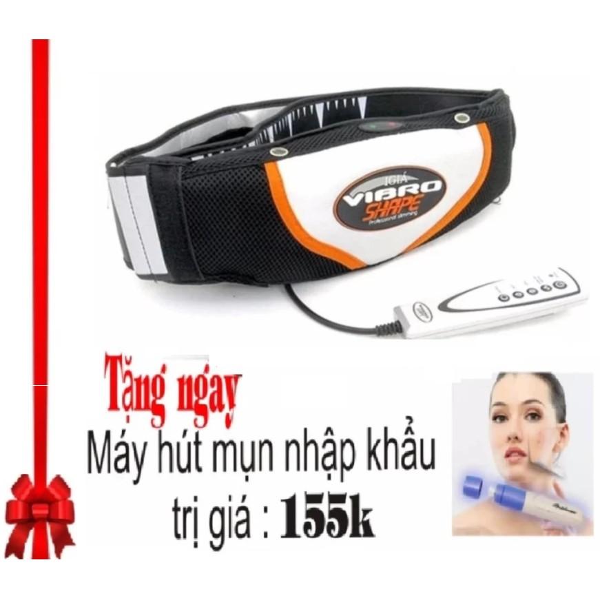 Đai massage giảm mỡ bụng nóng & rung Vibro Shape (Đen) + máy hút mụn - 3101531 , 506338443 , 322_506338443 , 260000 , Dai-massage-giam-mo-bung-nong-rung-Vibro-Shape-Den-may-hut-mun-322_506338443 , shopee.vn , Đai massage giảm mỡ bụng nóng & rung Vibro Shape (Đen) + máy hút mụn