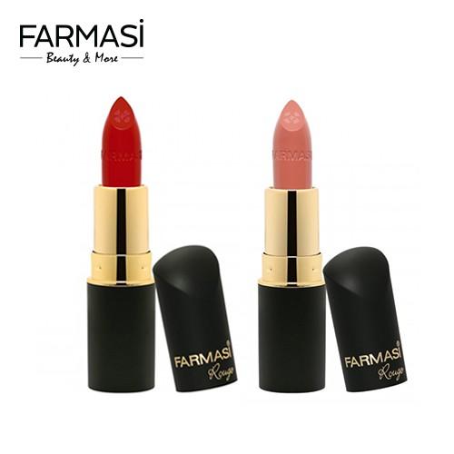 [Combo] 2 Son Môi Sắc Đỏ Quý Phái Rouge Collagen Farmasi (màu đỏ mận 09 và Nude đậm 05) 4gr/thỏi